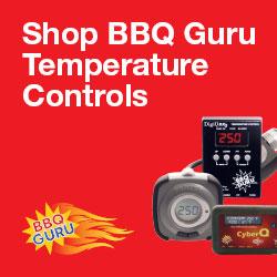 BBQ Guru logo and advertisement