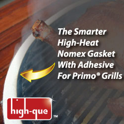 high-que logo and advertisement