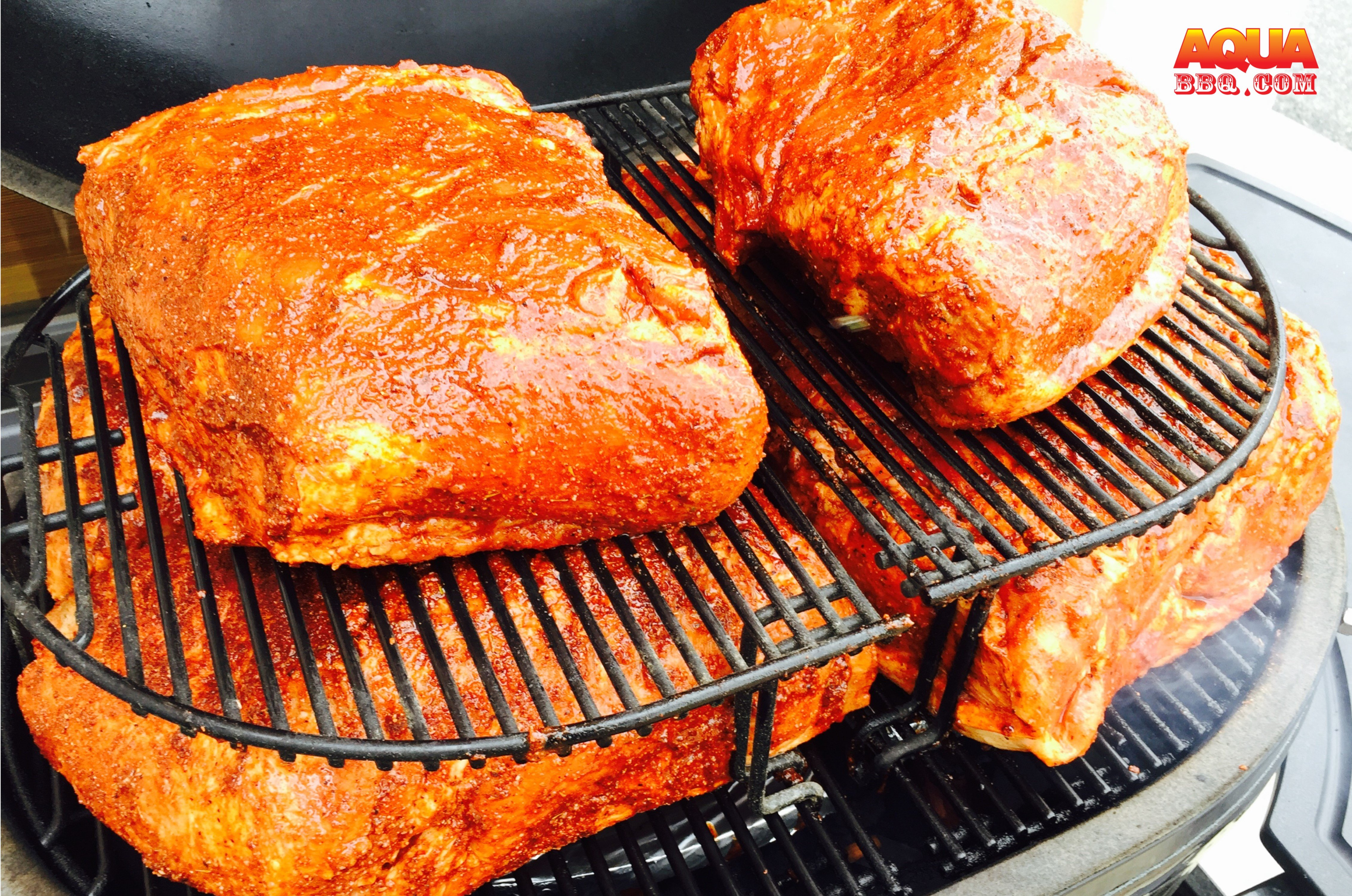 Using Two Extension Racks The Primo Oval XL 400 Can Smoke 6 Shoulders At A  Time