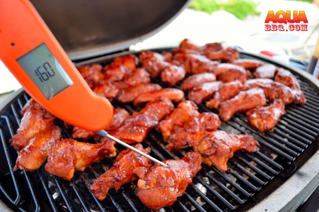A Thermapen MK4 is the perfect tool to ensure the wings are perfect.