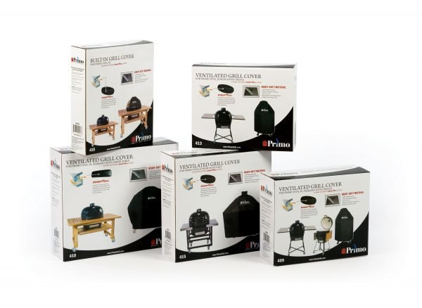 Multiple different grill covers in boxes
