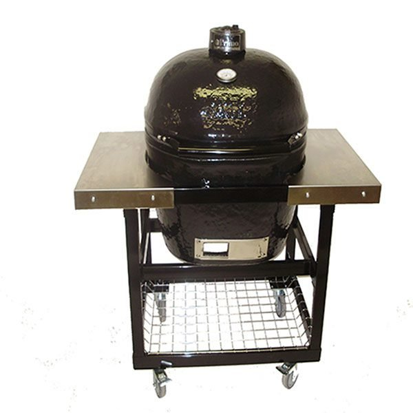 A heavy duty cart with a primo grill