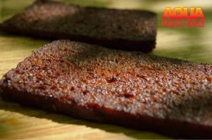 The finished smoked scrapple