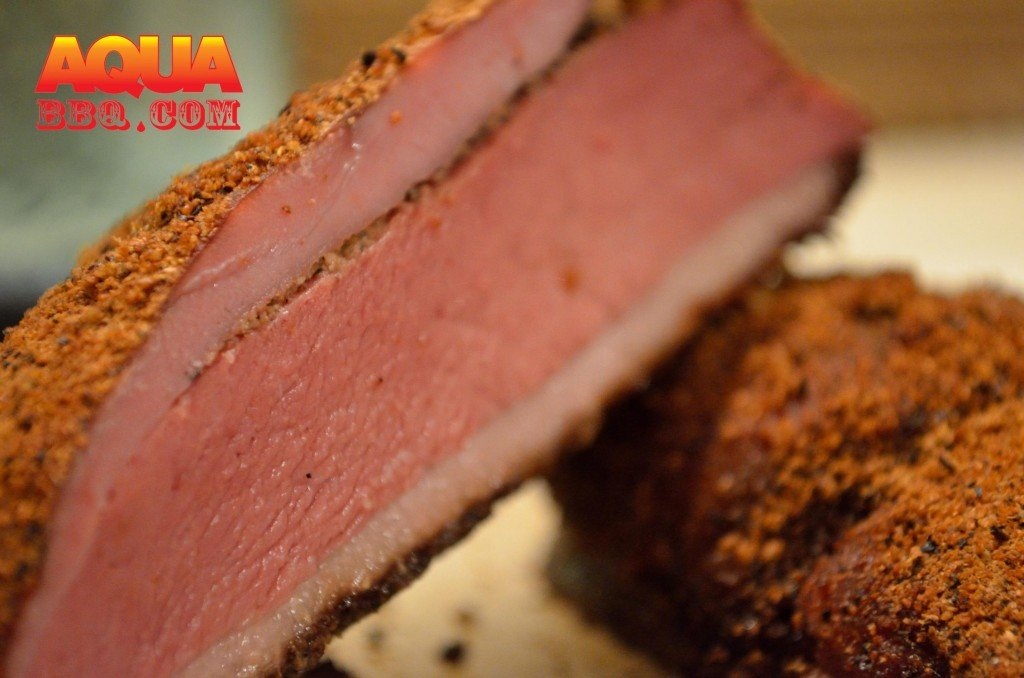 When done the duck pastrami can be served warm- the fat will be perfectly rendered.