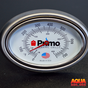 A Primo thermometer with a bezel