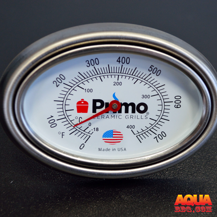 a primo thermometer with a bezel - Primo Grills