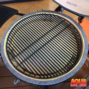 A Porcelain grate on a Primo Grill
